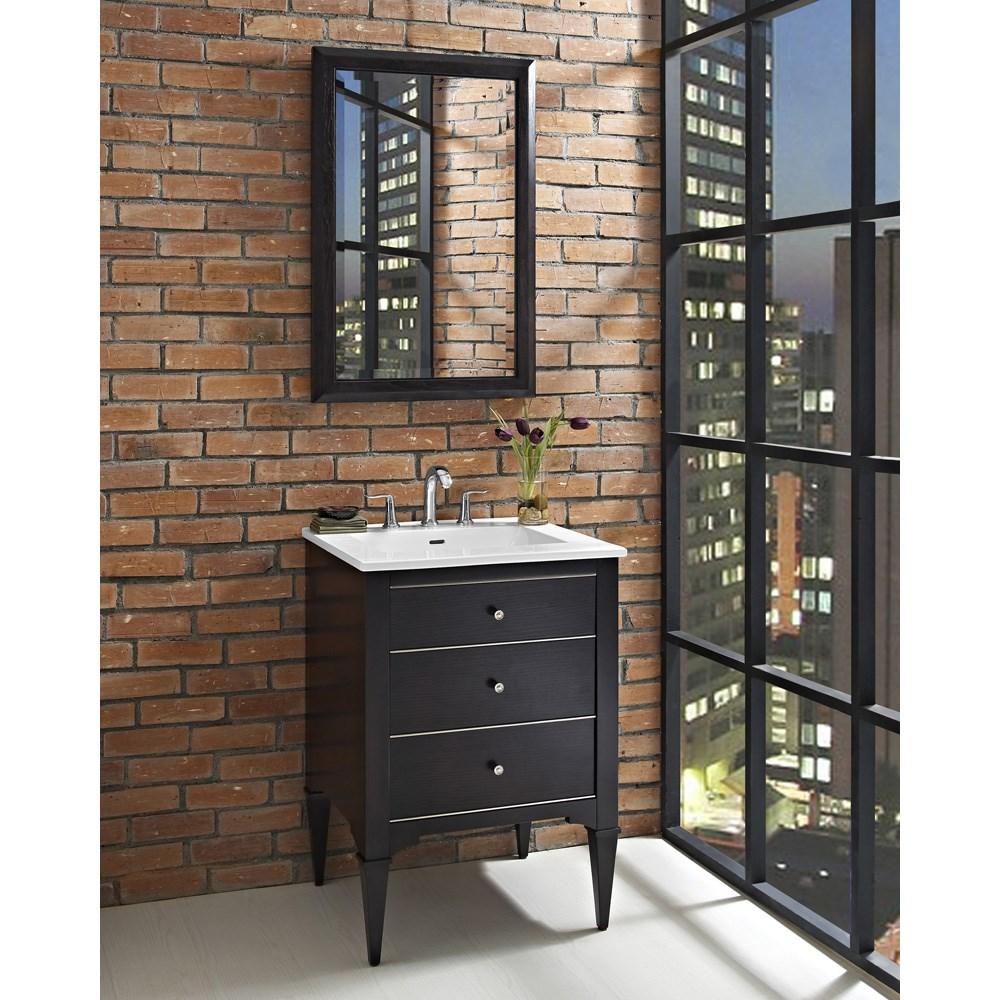 "Fairmont Designs Charlottesville 24"" Vanity for Integrated Sinktop - Vintage Blacknohtin Sale $1151.00 SKU: 1511-V24- :"