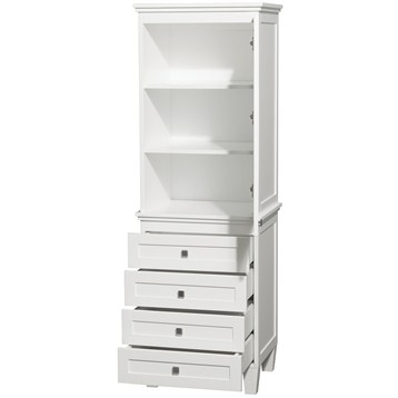 white bathroom storage tower acclaim linen tower by wyndham collection white free 21452