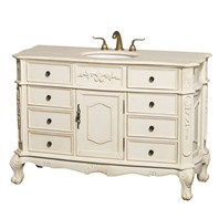 "Colby 50"" Traditional Bathroom Vanity with Drawers - Antique White H10000-D-50-ANTWHT"