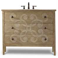 "Cole & Co. 44"" Designer Series Emma Hall Chest - Handpainted Parchment 11.22.275544.02"