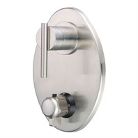 Danze® Parma™ Two Handle Thermostatic Shower Trim Kit - Brushed Nickel