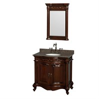 "Edinburgh 36"" Single Bathroom Vanity by Wyndham Collection - Cherry WC-J233-36-SGL-VAN-CHE"