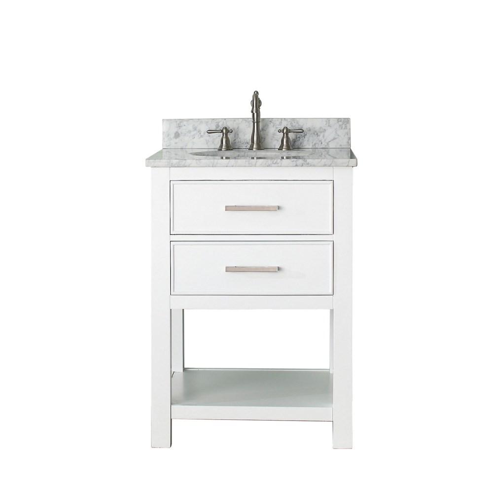 """Avanity Brooks 24"""" Single Bathroom Vanity with Countertop - Whitenohtin Sale $833.00 SKU: BROOKS-24-WT :"""