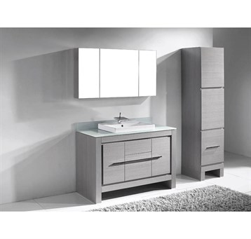 """Madeli Vicenza 48"""" Bathroom Vanity for Glass Counter and Porcelain Basin, Ash Grey B999-48C-001-AG-GLASS by Madeli"""