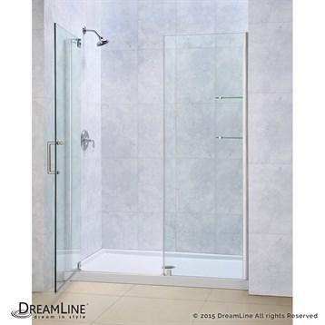 """Bath Authority DreamLine Elegance Frameless Pivot Shower Door and SlimLine Single Threshold Shower Base, 30"""" by... by Bath Authority DreamLine"""