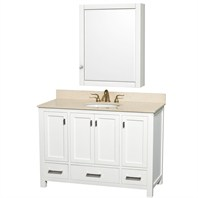 "Abingdon 48"" Single Bathroom Vanity by Wyndham Collection - White WC-1515-48-WHT"