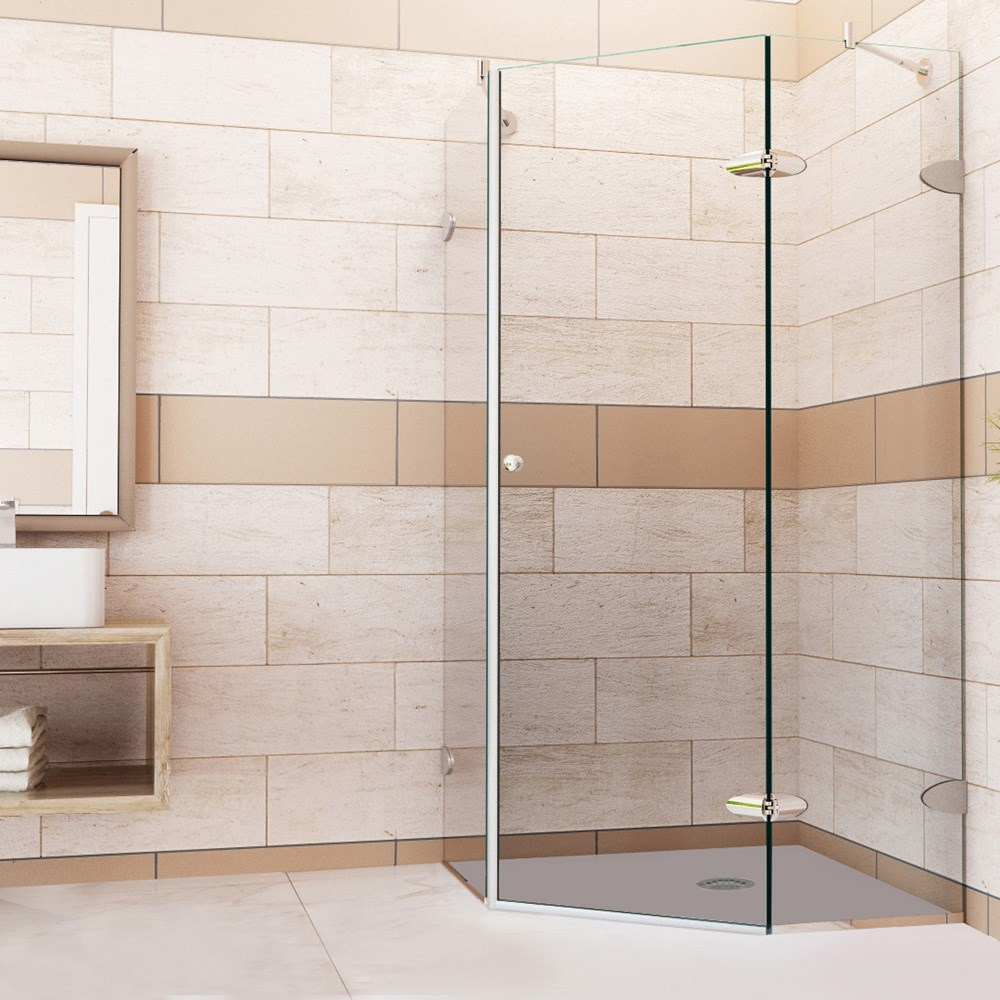 "Vigo Industries Frameless Neo-Angle Shower Enclosure - 38"" x 38"", Clearnohtin Sale $1130.99 SKU: VG6061CL-38-38 :"