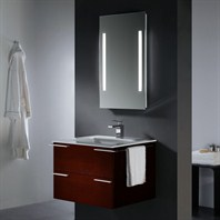 Vigo 31-inch Single Bathroom Vanity with Mirror and Lighting System - Red Oak VG09003106K