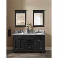 "Fairmont Designs Framingham 60"" Double Bowl Vanity - Obsidian 1508-V6021D"
