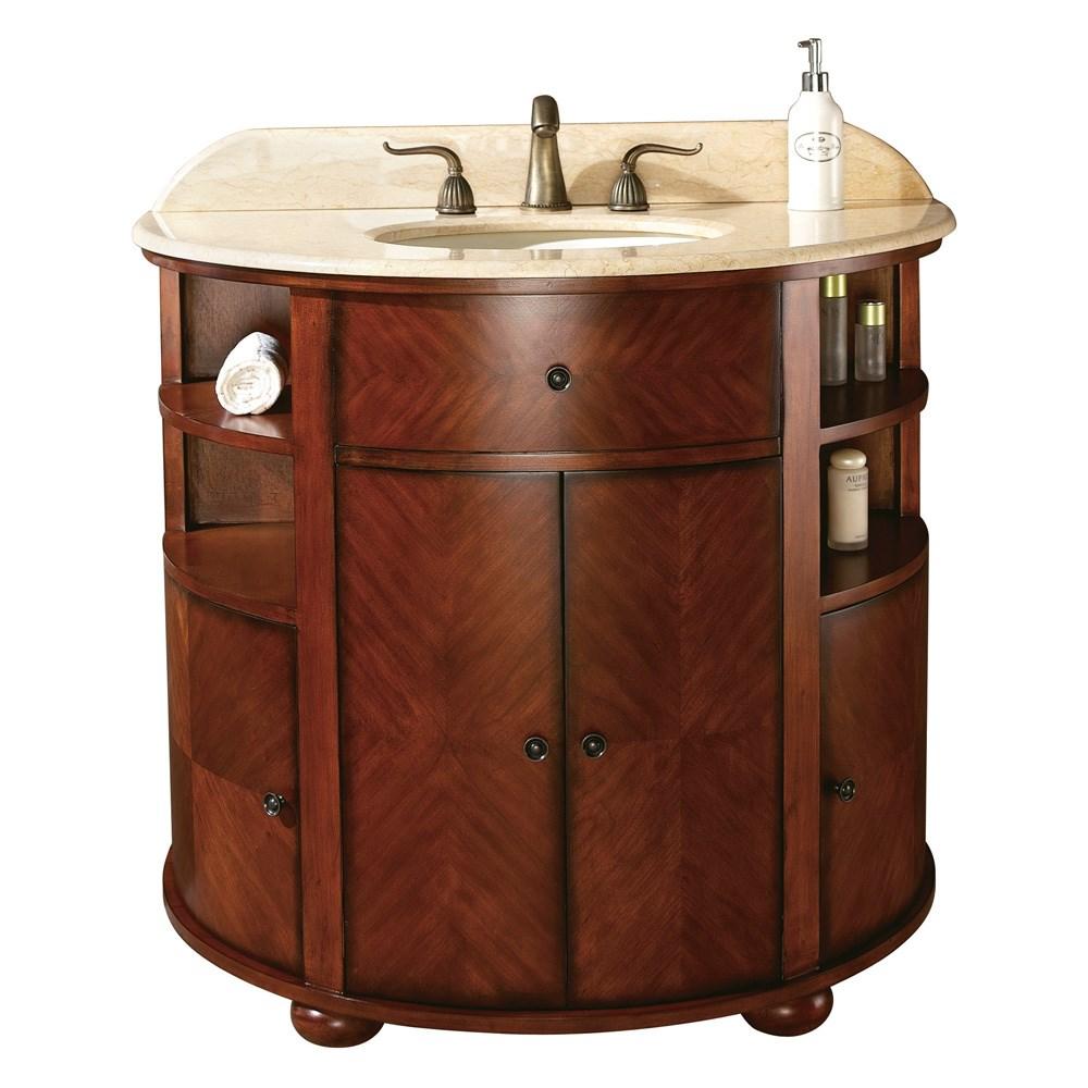 """Avanity Oxford 39"""" Single Bathroom Vanity - Dark Oaknohtin Sale $816.00 SKU: OXFORD-38-DO :"""