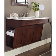 "Fairmont Designs Shaker 36"" Wall Mount ADA Vanity - Dark Cherry 125-ADW3621"