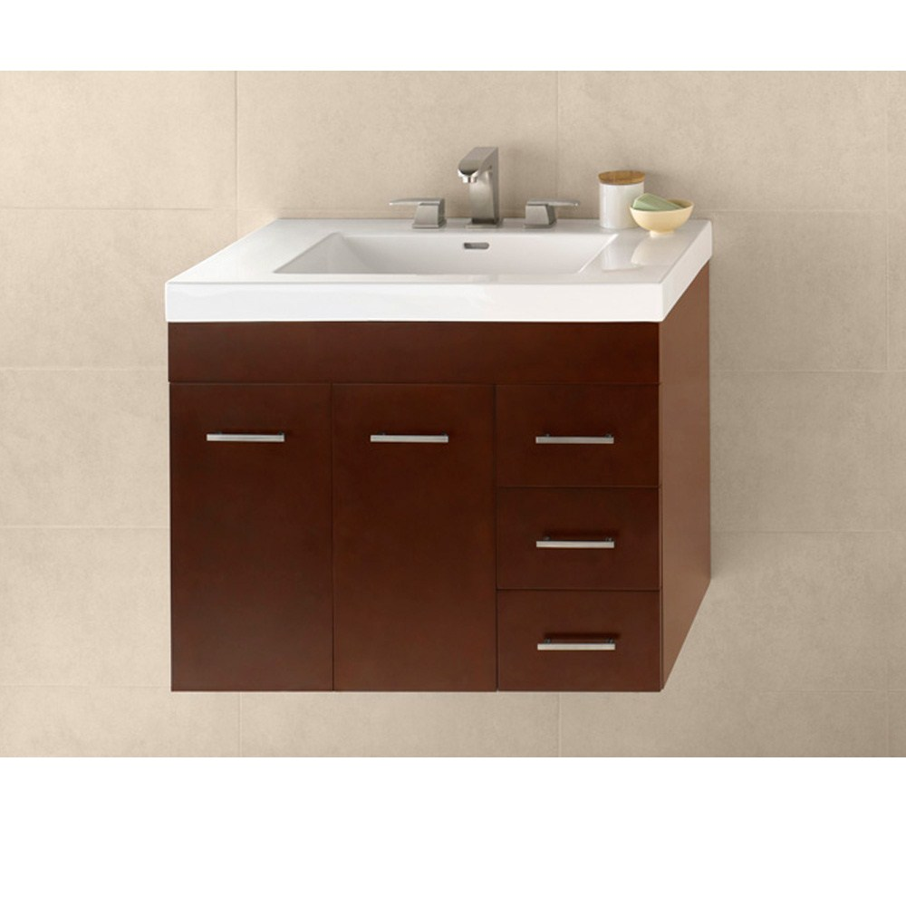 "RONBOW Bella 31"" Vanity Integrated - Dark Cherry RONBOW 011231-L-H01-INTEGRATED"