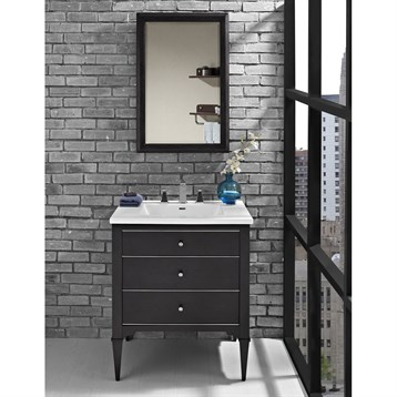 "Fairmont Designs Charlottesville 30"" Vanity for Integrated Sinktop, Vintage Black 1511-V30- by Fairmont Designs"