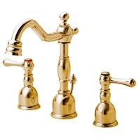 Danze Opulence 2H Mini-Widespread Lavatory Faucet w/ Metal Touch Down Drain 1.2gpm - Polished Brass D303157PBV