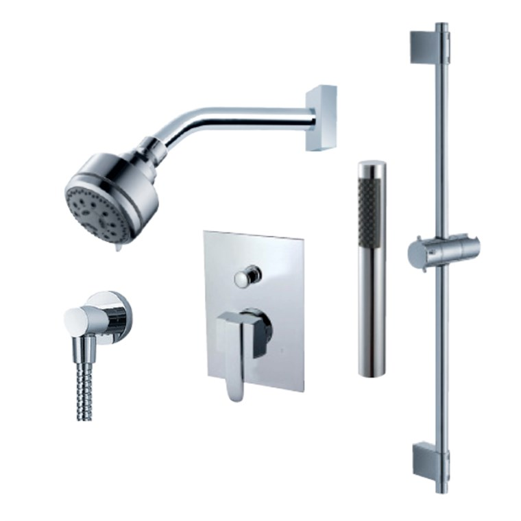fluid Penguin - Handheld Shower Trim Set with Slide Bar F2054T