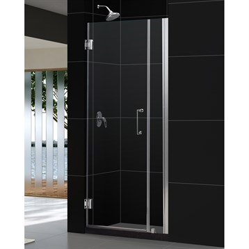 """Bath Authority DreamLine Unidoor Frameless Hinged Shower Door with Stationary Panel, 29 to 30"""" SHDR-20297210 by Bath Authority DreamLine"""