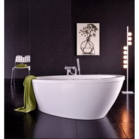 Aquatica Silence-Wht Freestanding Lucite with Microban Acrylic Bathtub - White Aquatica Silence-Wht