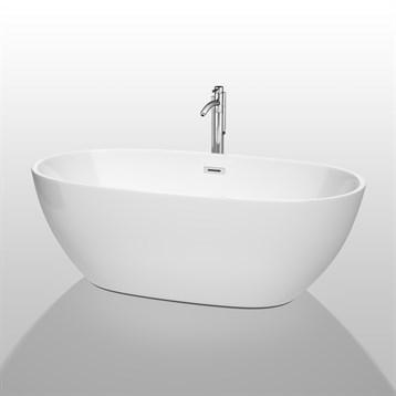 """Juno 67"""" Soaking Bathtub by Wyndham Collection, White WC-BTK1561-67 by Wyndham Collection®"""