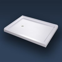 "Bath Authority DreamLine SlimLine Double Threshold Shower Base (34"" by 48"") - White DLT-103448"