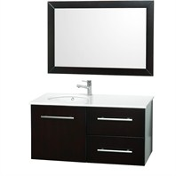 "Lola 41"" Wall Mount Single Bathroom Vanity Set - Espresso OM-2103-41-ESP"
