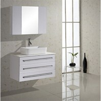 "Virtu USA Ivy 32"" Single Sink Bathroom Vanity - White UM-3057-S-WH"