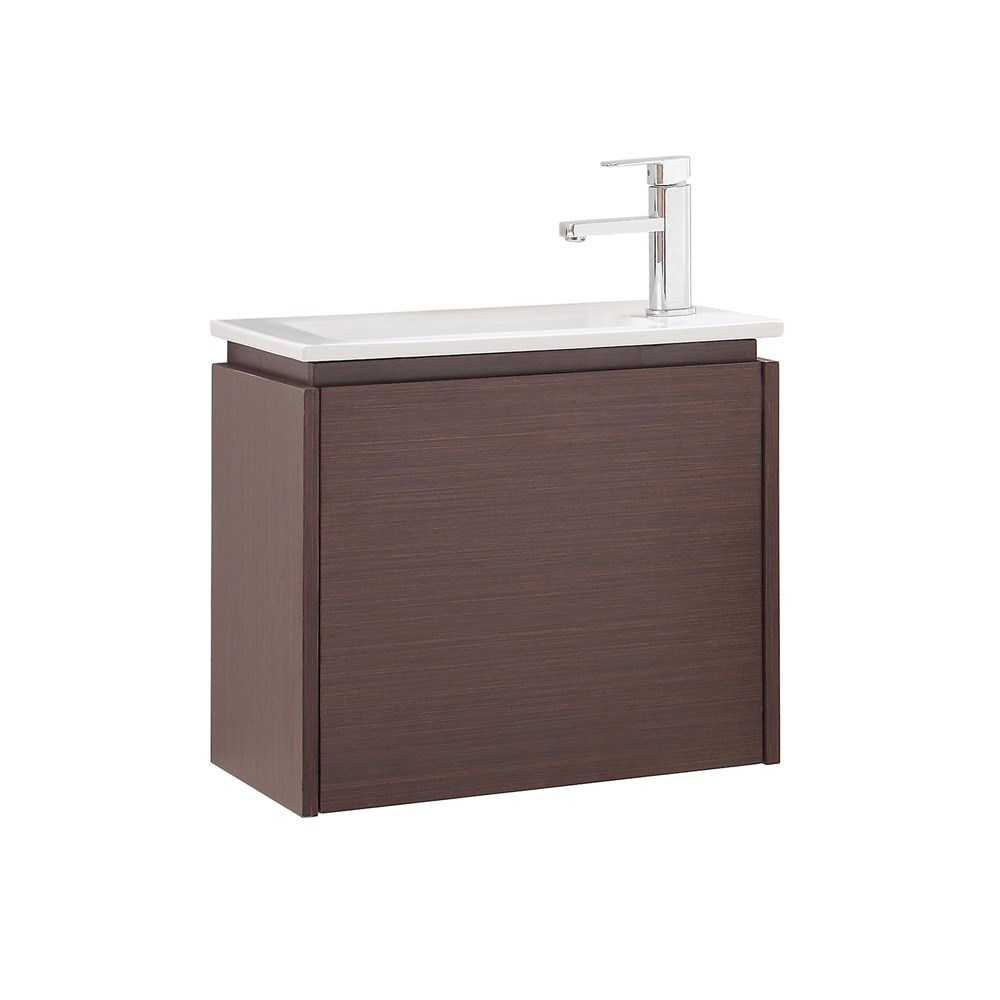"Avanity Milo 22"" Single Modern Bathroom Vanity with Integrated Vitreous China Top - Iron Woodnohtin Sale $510.00 SKU: MILO-VS22-IW :"