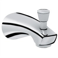 "Grohe Arden 6"" Diverter Tub Spout - Infinity Brushed Nickel"