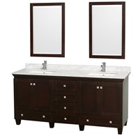 Acclaim 72 in. Double Bathroom Vanity by Wyndham Collection - Espresso WC-CG8000-72-DBL-VAN-ESP-