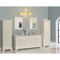 "Fairmont Designs Framingham 72"" Double Bowl Vanity - Polar White 1502-V7221D"
