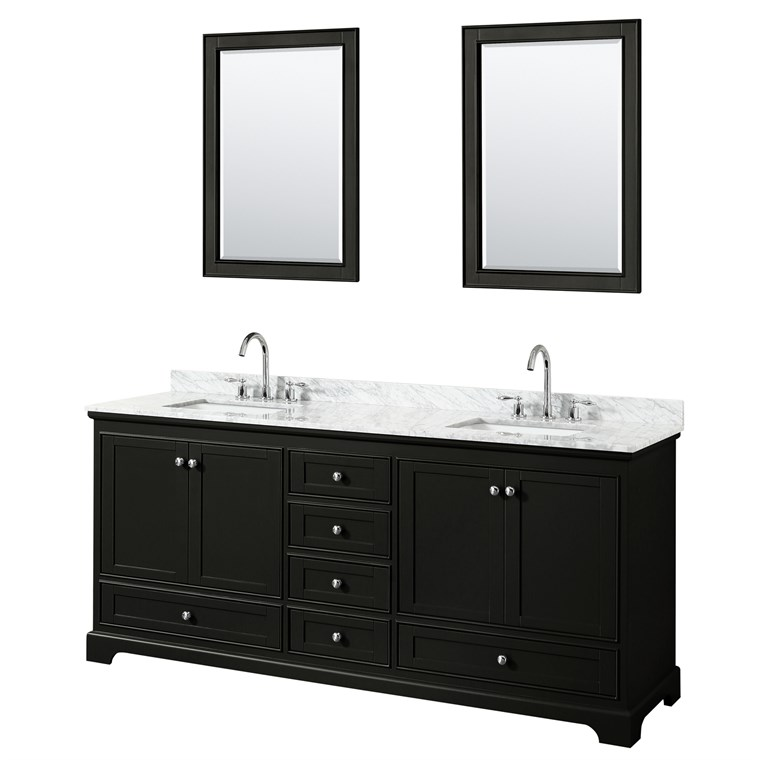 "Deborah 80"" Double Bathroom Vanity by Wyndham Collection - Dark Espresso WC-2020-80-DBL-VAN-DES"