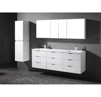 "Madeli Bolano 72"" Double Bathroom Vanity for X-Stone Top - Glossy White B100-72-002-GW"