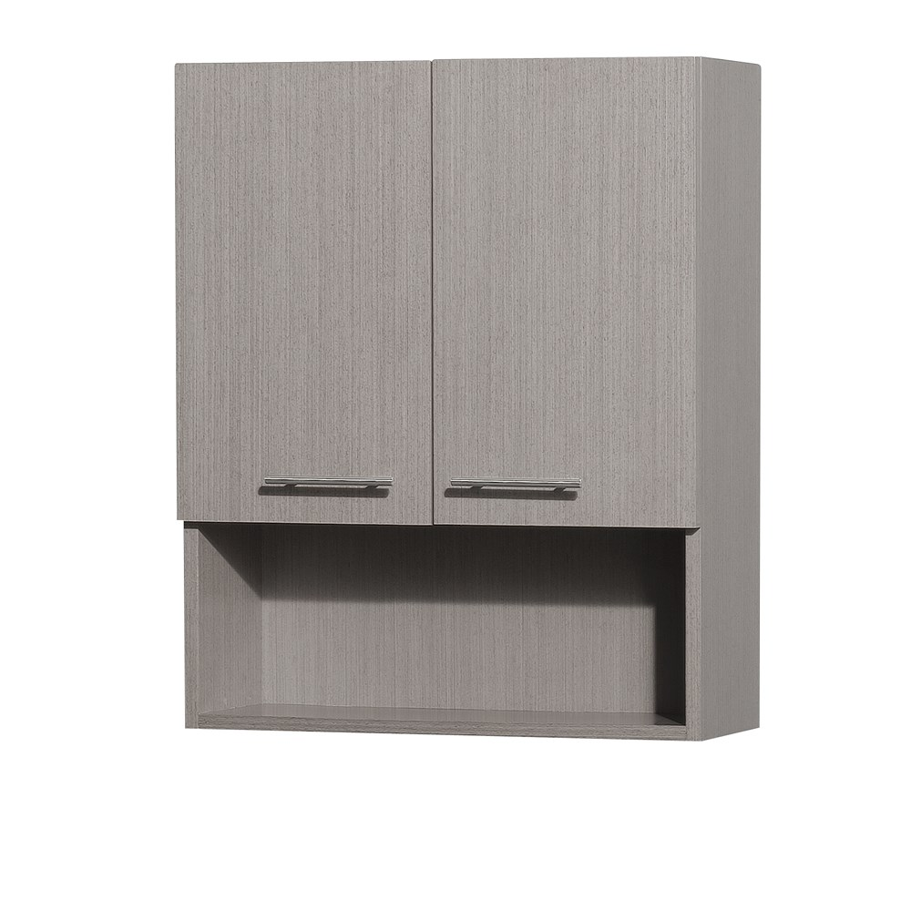 Centra Bathroom Wall Cabinet by Wyndham Collection - Gray Oaknohtin