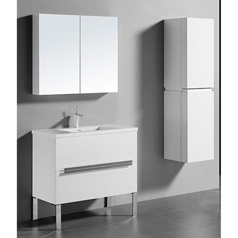 "Madeli Soho 36"" Bathroom Vanity for Integrated Basin - Glossy White B400-36-001-GW"