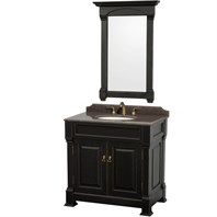 "Andover 36"" Traditional Bathroom Vanity Set Wyndham Collection - Dark Cherry WC-TS36-DKCH"