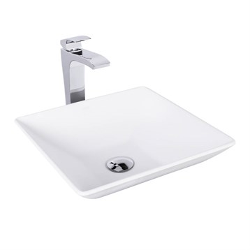 Vigo Matira Matte Stone Vessel Sink and Blackstonian Bathroom Vessel Faucet in Chrome VGT1019 by Vigo Industries