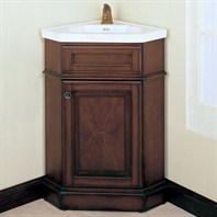 "Fairmont Designs 26"" Traditional Collection Manor Corner Vanity and Sink - Rich Brown"