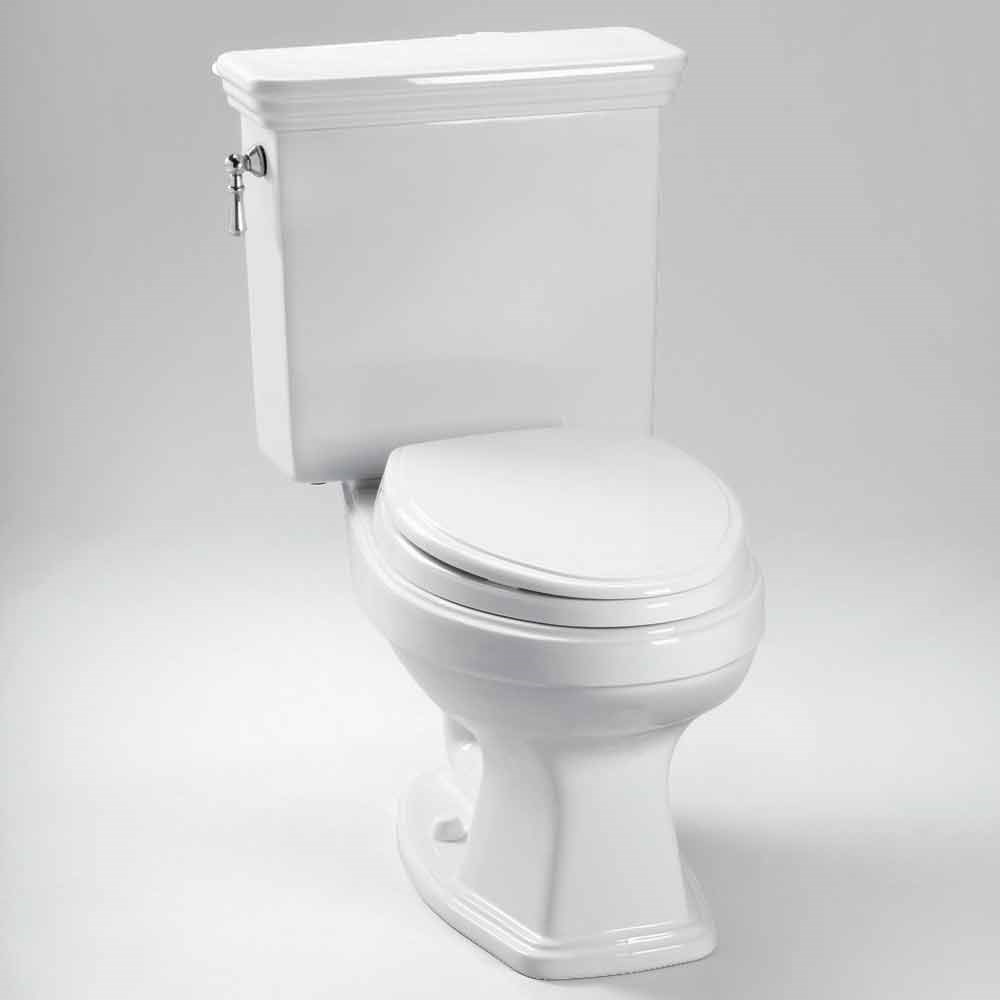 TOTO Eco Promenade Two-Piece Round Toilet with CeFiONtect, 1.28 GPF - Cotton White CST423EFG.01