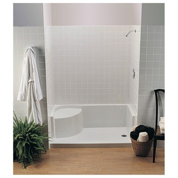 "MTI MTSB-6036Seated Shower Base, 59.75"" x 35.5"" x 21.5"" by MTI"