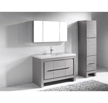 "Madeli Vicenza 48"" Bathroom Vanity For X-Stone, Ash Grey B999-48C-001-AG-XSTONE by Madeli"