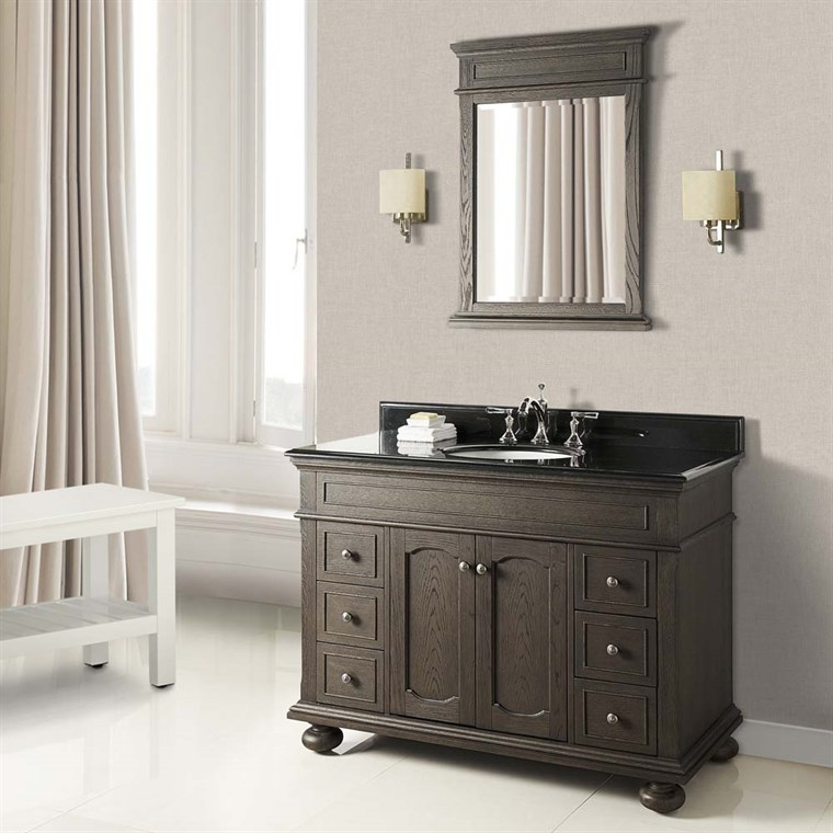 "Fairmont Designs Oakhurst 48"" Vanity for Undermount Oval - Burnt Chocolate 1536-V48_"