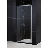 "Bath Authority DreamLine Flex Frameless Pivot Shower Door and SlimLine Single Threshold Shower Base (36""by 36"") DL-6208C-01CL"