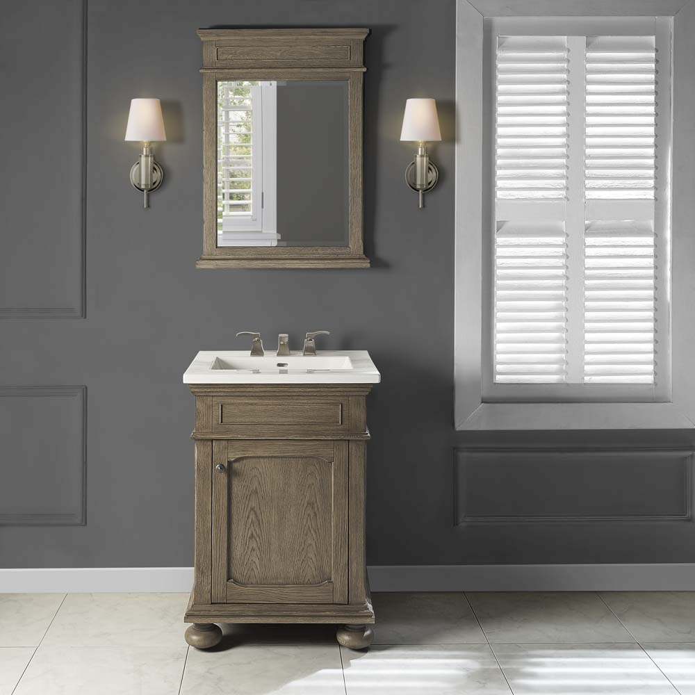 "Fairmont Designs Oakhurst 24"" Vanity for Integrated Top - Antique Grey 1535-V24-"