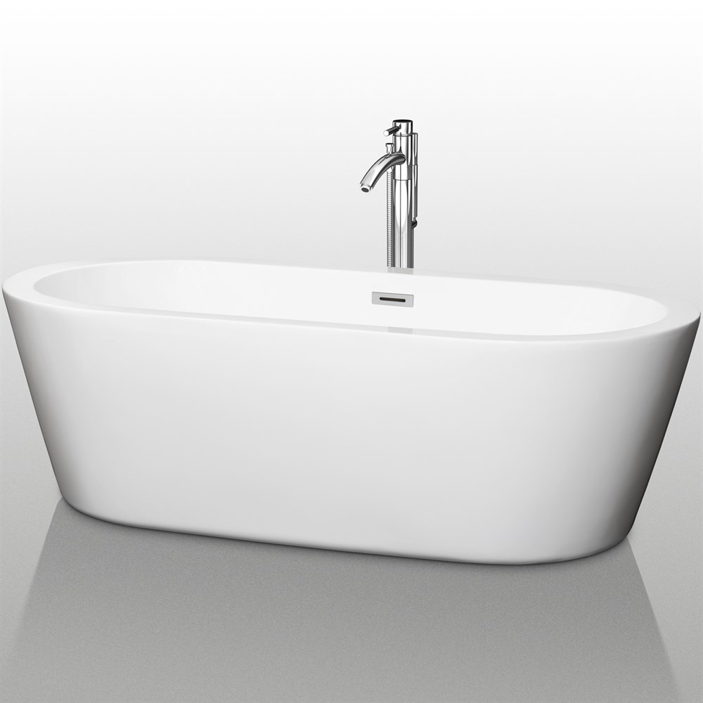 "Mermaid 71"" Soaking Bathtub by Wyndham Collection WC-BTE1003-71"