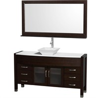 "Daytona 60"" Bathroom Vanity with Vessel Sink and Mirror by Wyndham Collection - Espresso WC-A-W2109T-60-ESP"