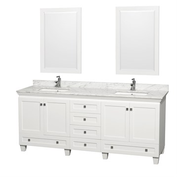 Acclaim 80 in. Double Bathroom Vanity by Wyndham Collection, White WC-CG8000-80-DBL-VAN-WHT- by Wyndham Collection®