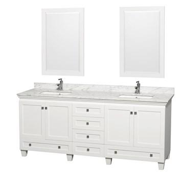 White Double Vanity Bathroom