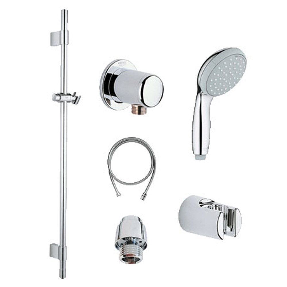 Showers Grohe The Best Prices For Kitchen Bath And Plumbing Faucet Handles Replacement Also Parts Diagram New Tempesta Shower Kit Chrome