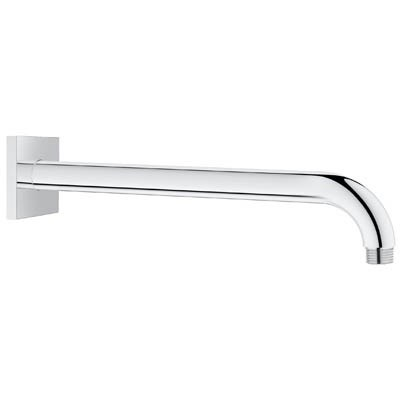 "Grohe Rainshower 12"" Shower Arm with Square Flange - Starlight Chrome GRO 27489000"
