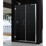 "Bath Authority DreamLine UNIDOOR Frameless Adjustable Shower Door (54""-55"") SHDR-20547210C"