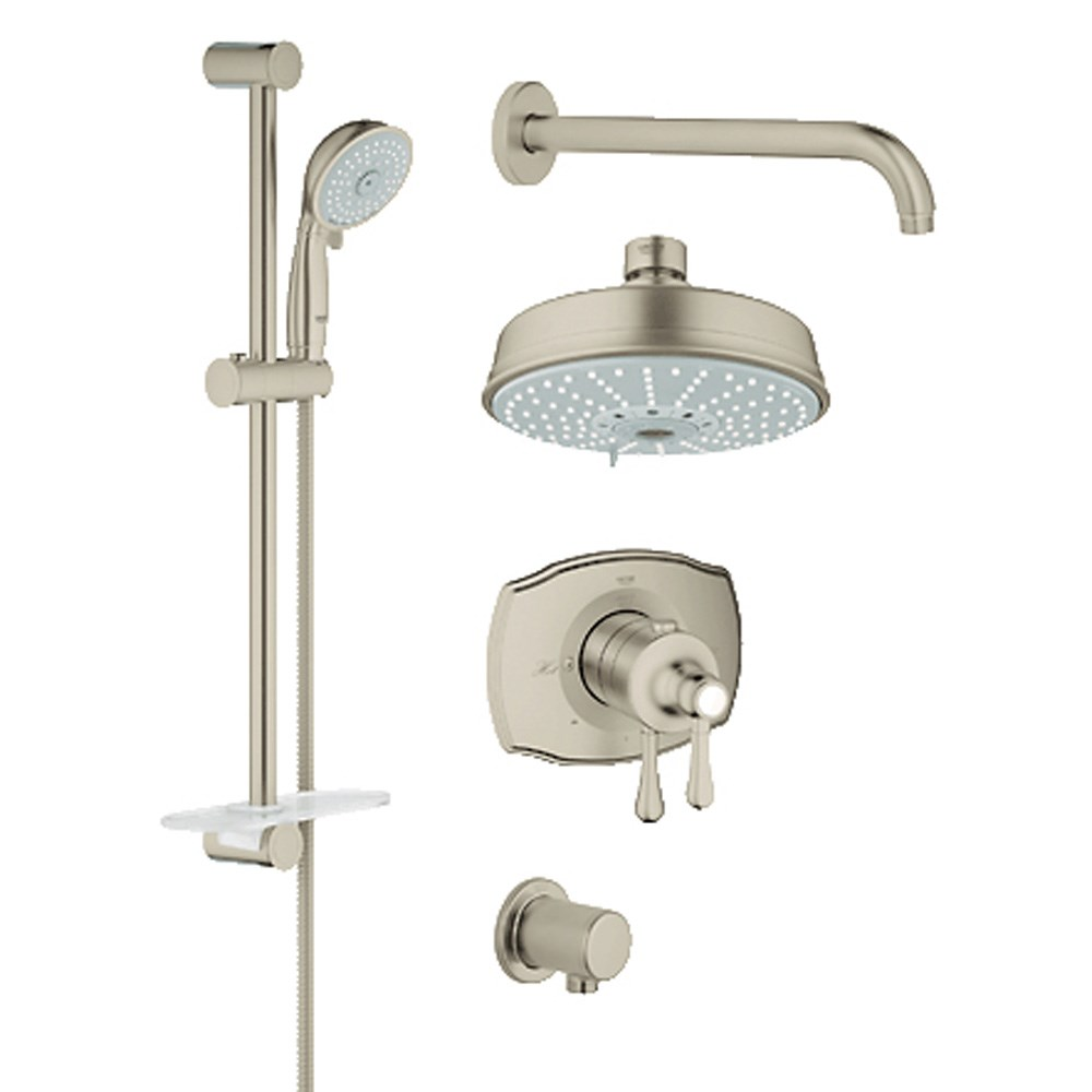 Grohe Grohflex Bath and Shower Set with Thermostat Valve - Brushed Nickelnohtin Sale $1045.99 SKU: GRO 35054EN0 :